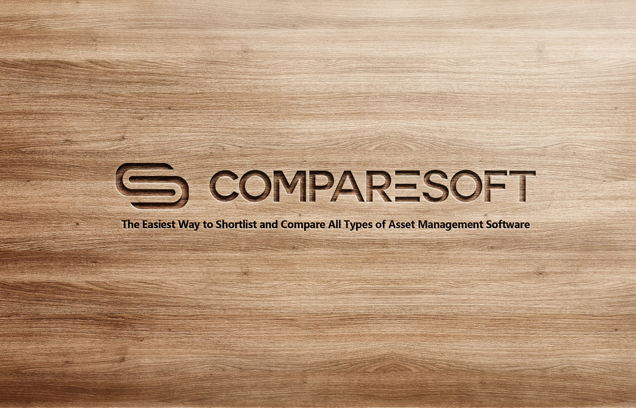 Comparesoft Logo on Wood